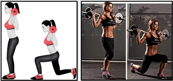 Выпады какие мышцы работают