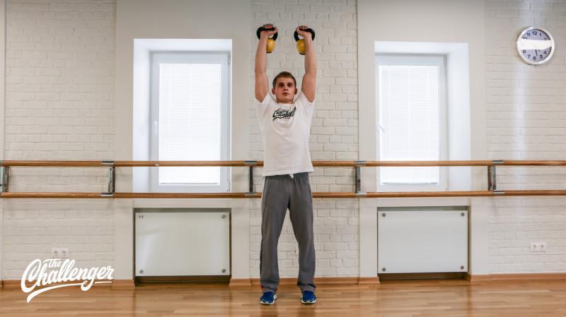 13 упражнений с гирями, которые отлично качают все мышцы. Изображение номер 6