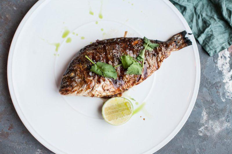 Изображение рецепта Дорадо на гриле под азиатским соусом