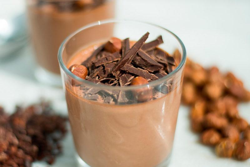 Изображение рецепта Веганский шоколадный мусс со вкусом нутеллы
