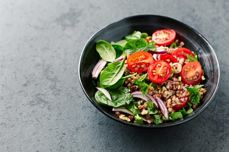 Изображение рецепта Зелёный салат с гречкой