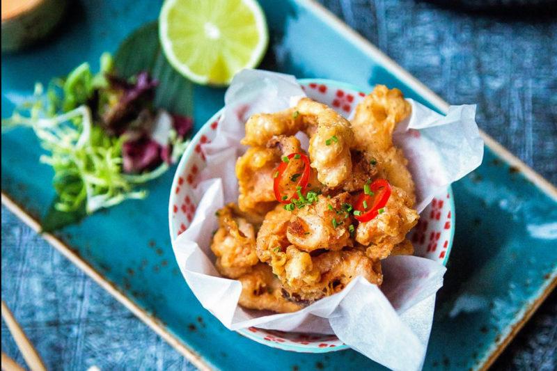 Изображение рецепта Мини-кальмары с соусом кимчи майо