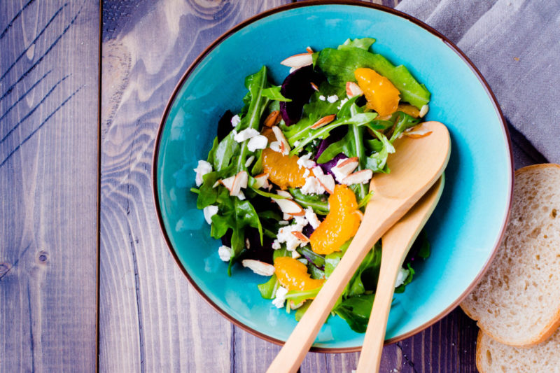 Изображение рецепта Салат с мандаринами и сыром фета