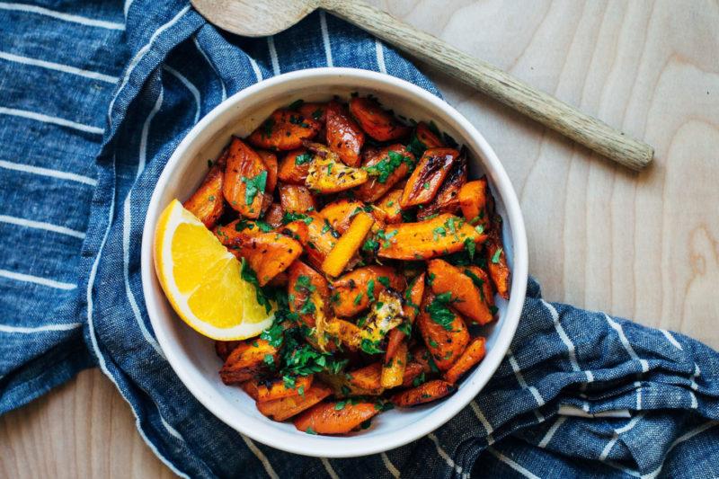 Изображение рецепта Морковные палочки в мандариновом соусе