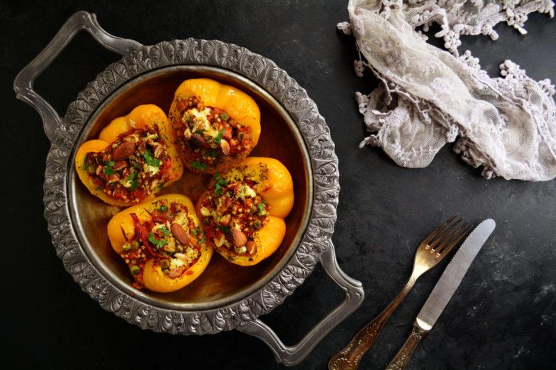 Изображение рецепта Фаршированные перцы с гречкой