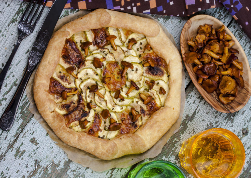 Изображение рецепта Тарт с цукини, грибами и моцареллой