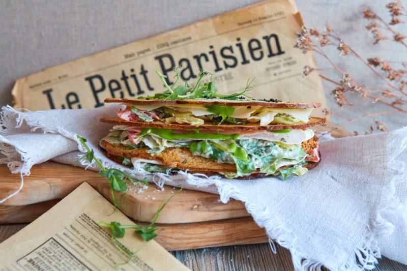 Изображение рецепта Сэндвич с салатом «Цезарь»