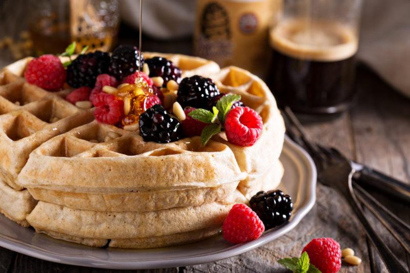 Изображение рецепта Бельгийские вафли на кедровом молочке