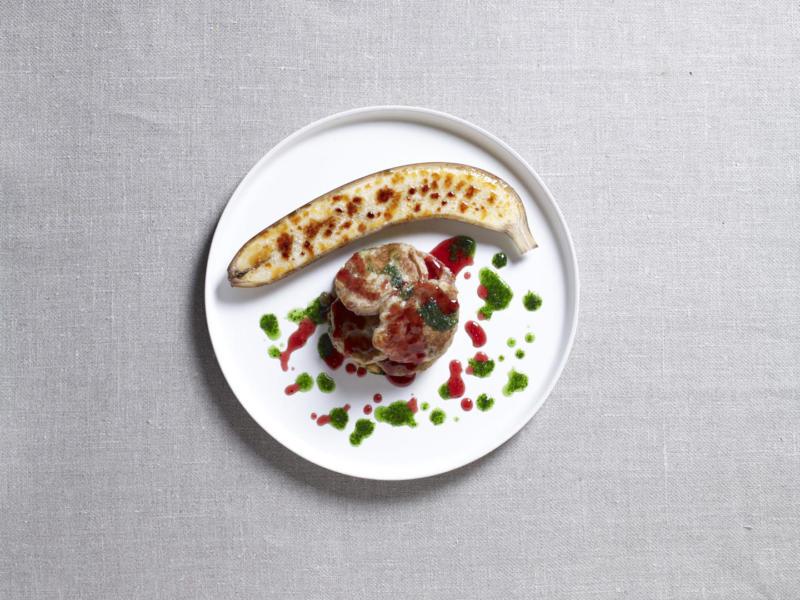 Изображение рецепта Оладьи с бананом и яблоком