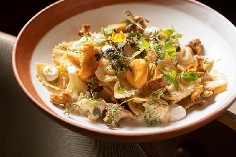 Изображение рецепта Паста фарфалле с жареными лисичками
