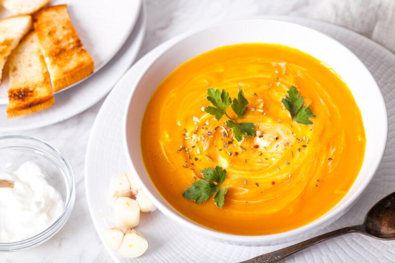 Изображение рецепта Тыквенный крем-суп с сыром