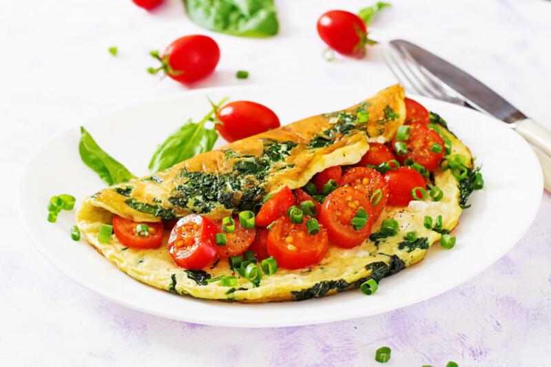 Изображение рецепта Омлет с сыром и овощами
