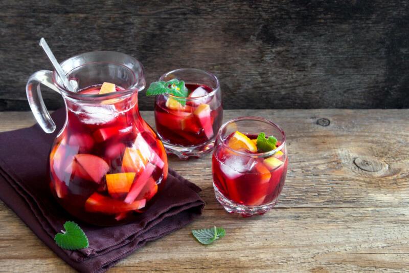 Изображение рецепта Сангрия на гранатовом соке с корицей