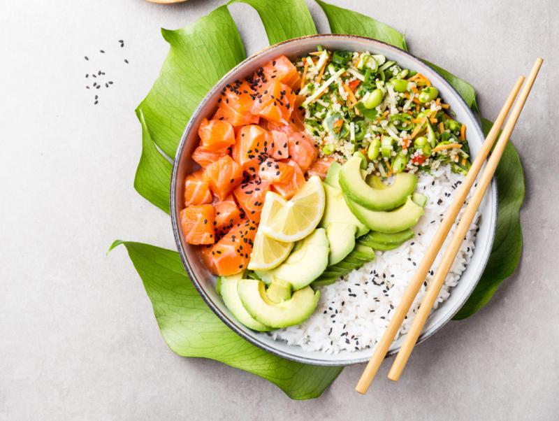 Изображение рецепта Поке с неркой и грушей