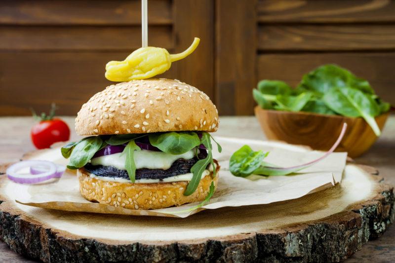Изображение рецепта Бургер с грибами портобелло