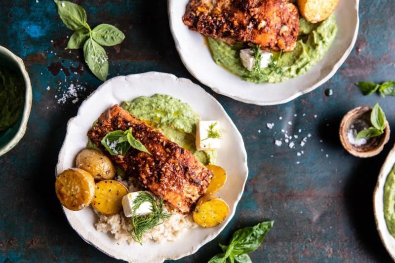 Изображение рецепта Боул с лососем, картофелем и авокадо