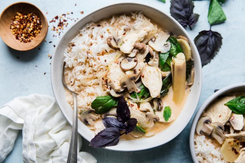 Изображение рецепта Кокосовый суп с курицей