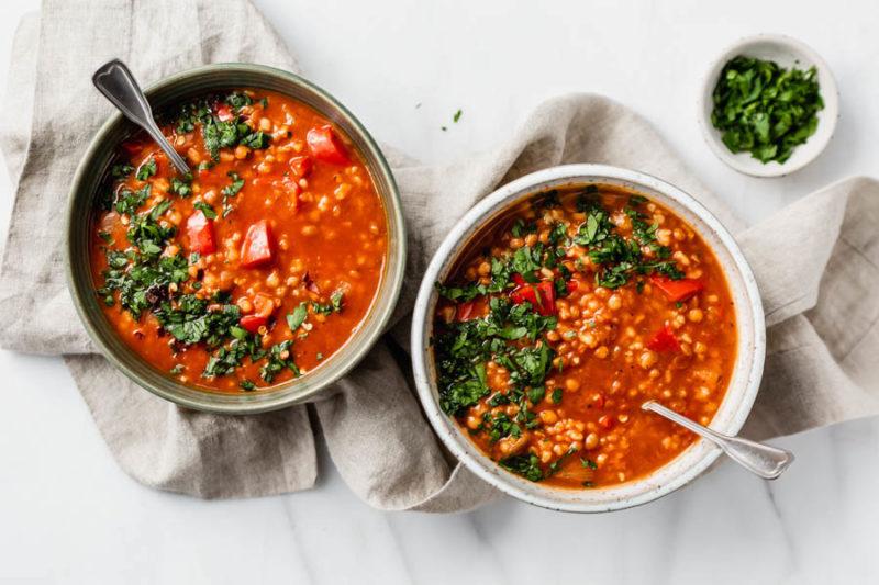 Изображение рецепта Суп с чечевицей и болгарским перцем