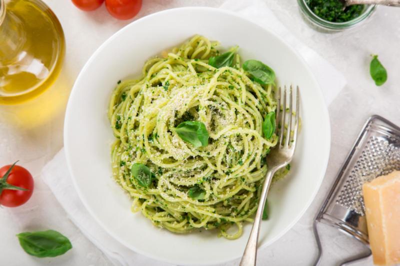Изображение рецепта Паста с зелёным соусом