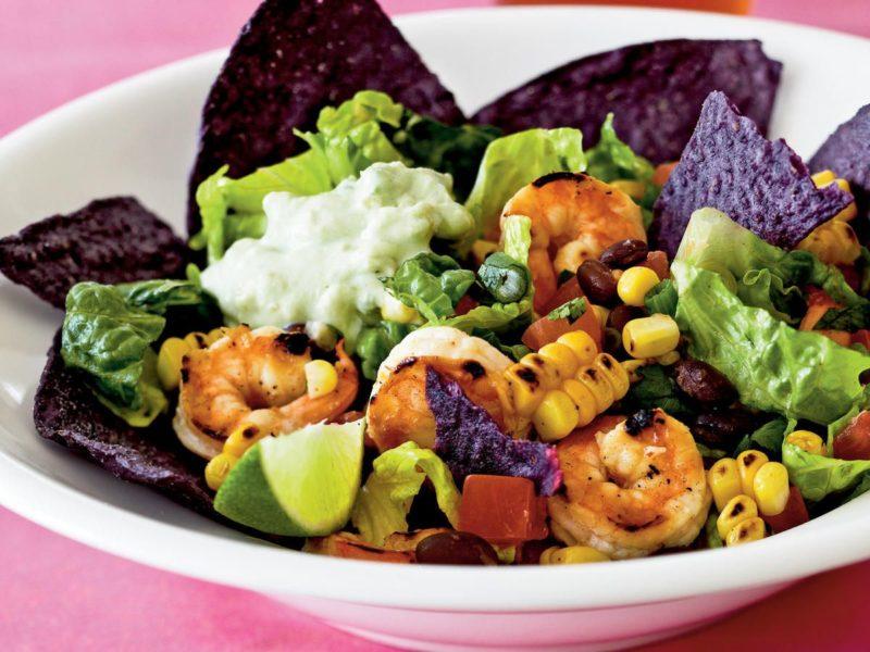Изображение рецепта Тако-салат с креветками