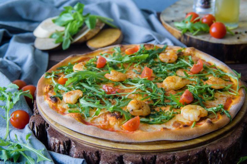 Изображение рецепта Пицца с морепродуктами